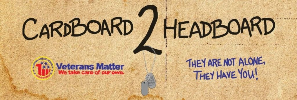 Cardboard 2 Headboard Veterans Campaign Benztown